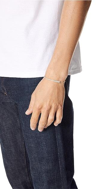 Le Gramme 7 Grammes Brushed Cable Bracelet