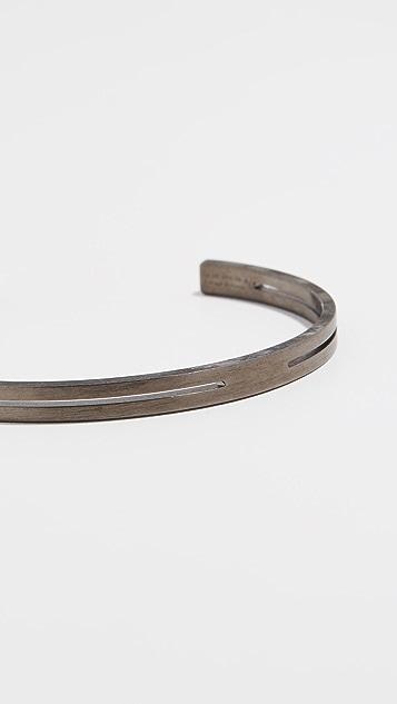 Le Gramme 13g Brushed Punched Bracelet