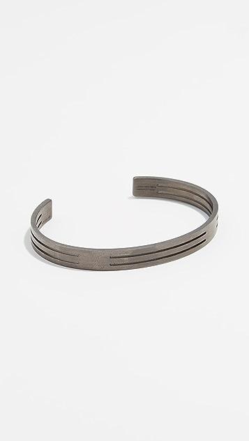 Le Gramme 19g Brushed Punched Bracelet