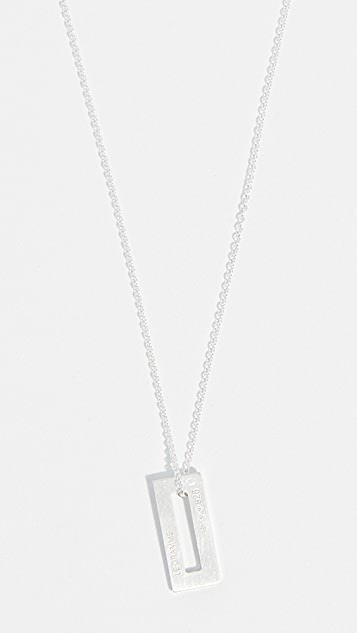 Le Gramme 1.5g Small Brushed Chain Necklace