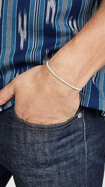 Le Gramme 11 Grammes Brushed Beads Bracelet