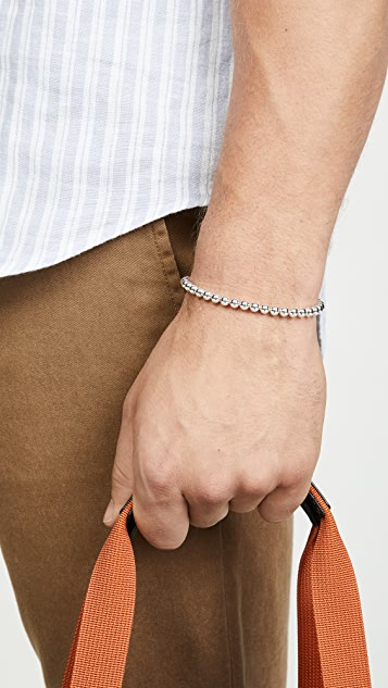 Le Gramme 25 Grammes Polished Beads Bracelet