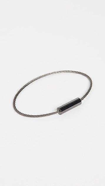 Le Gramme Ceramic Cable Bracelet