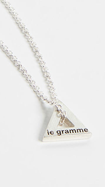 Le Gramme Triangle Necklace