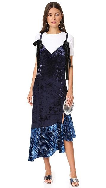 LEHA Velvet Slip Dress