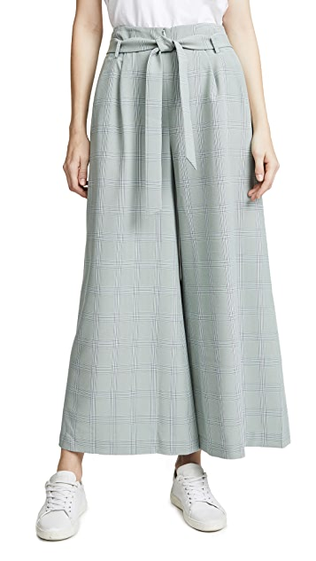 LEHA Check Wide Trousers
