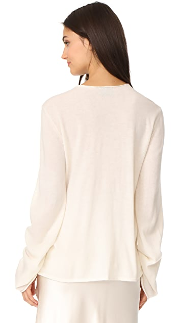 Le Kasha V Neck Tie Sweater