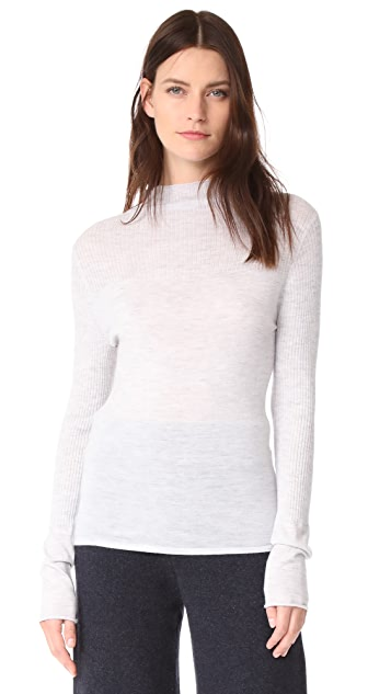 Le Kasha Cashmere Mock Neck Sweater