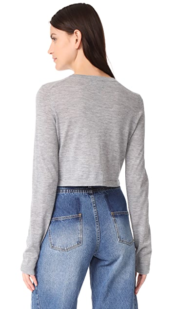 Le Kasha Cropped Crew Neck Top