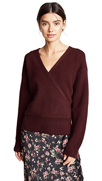 Le Kasha London Cashmere V Wrap Sweater