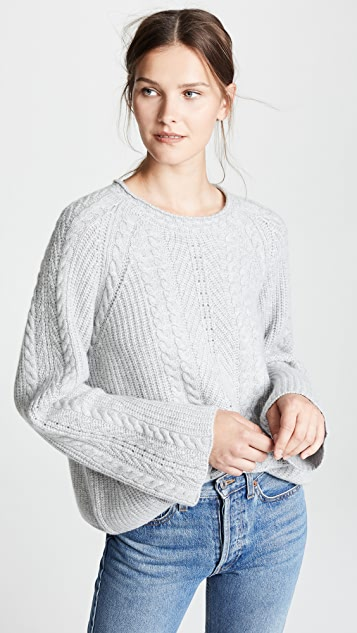 Le Kasha Grenade Cashmere Cable Knit Sweater