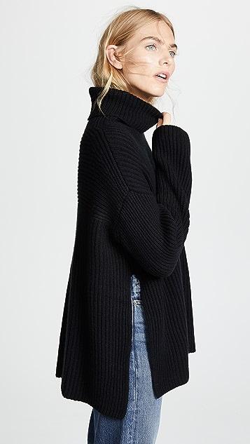 Le Kasha Кашемировый свитер Lisbon с воротником под горло