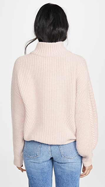 Le Kasha Rennes Oversized Cable Knit Cashmere Sweater