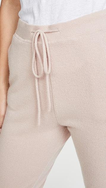Le Kasha 慢跑风格侧袋开司米羊绒长裤
