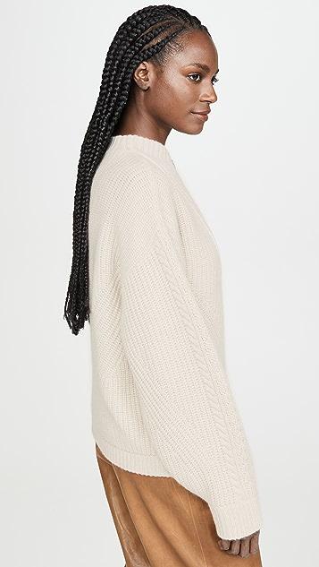 Le Kasha 绞花针织开司米羊绒毛衣