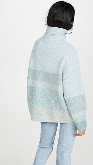 Le Kasha 起绒开司米羊绒高领毛衣