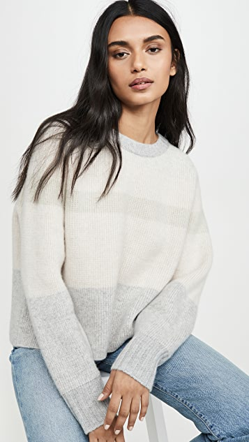 Le Kasha 大号衣袖和双层领口开司米羊绒毛衣