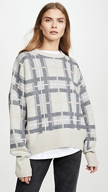 Le Kasha Plaid Cashmere Sweater