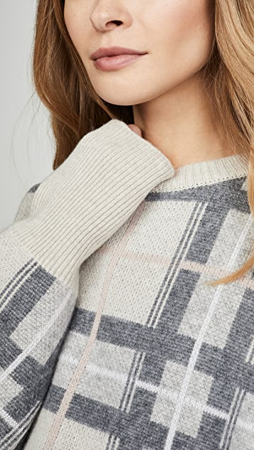 Le Kasha 格子开司米羊绒针织衫