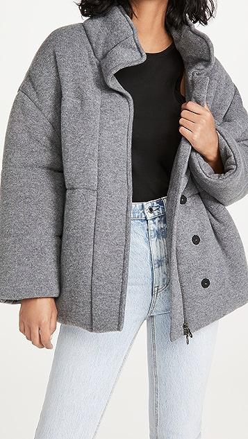 Le Kasha Dillon 开司米羊绒夹棉外套