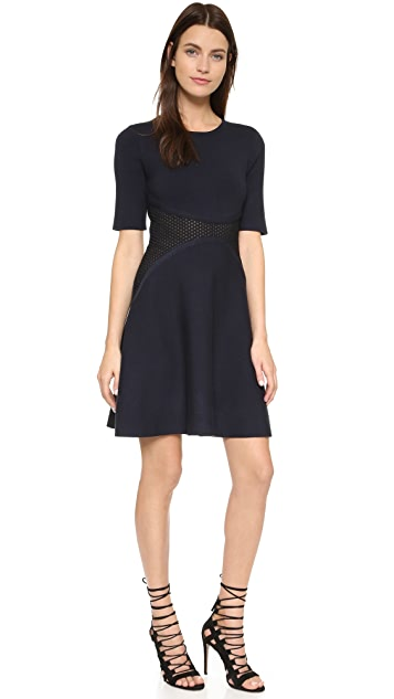 Lela Rose Lace Insert Dress
