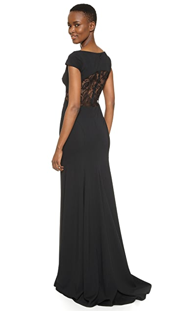 Lela Rose Open Back Gown