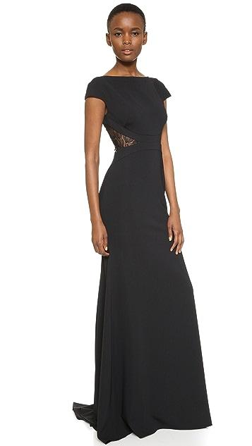 Lela Rose Вечернее платье с открытой спиной