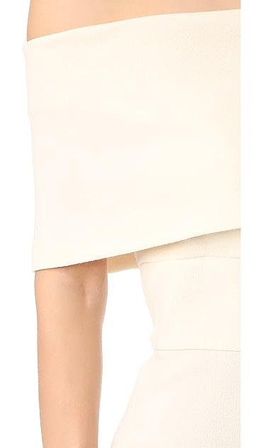 Lela Rose Off Shoulder Jumpsuit