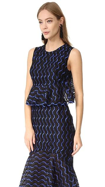Lela Rose Ruffle Skirt Dress