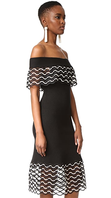 Lela Rose Off the Shoulder Dress