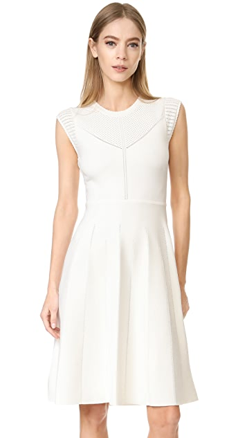 Lela Rose Fit and Flare Knit Dress
