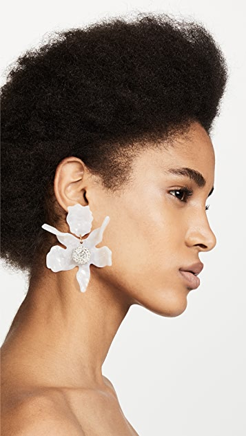 Lele Sadoughi Crystal Lily Earrings