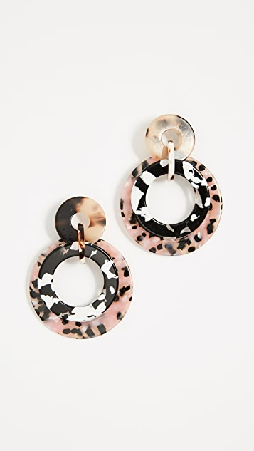 Lele Sadoughi Banded Hoop Earrings
