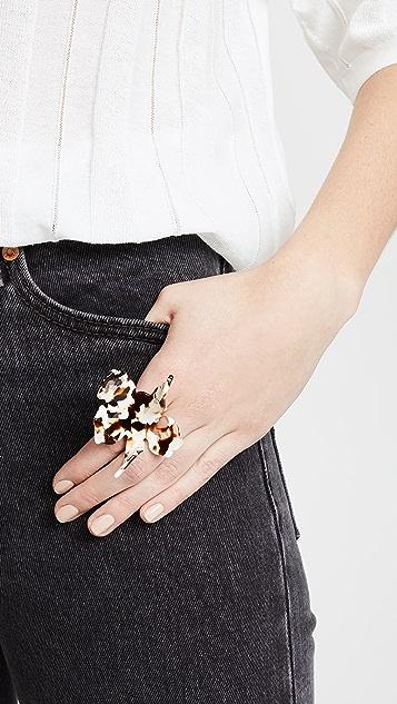 Lele Sadoughi Paper Lily Ring