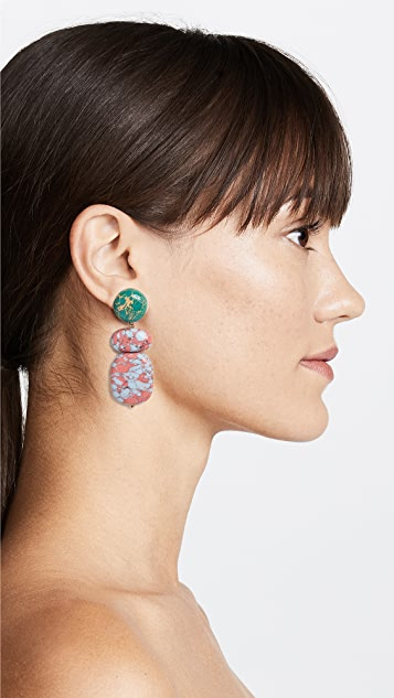 Lele Sadoughi Boulder Drop Earrings