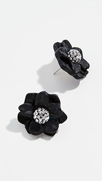 Lele Sadoughi Gardenia Stud Earrings