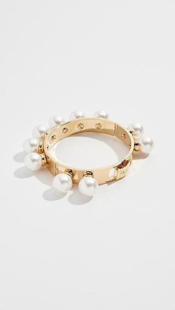 Lele Sadoughi Stone Keepsake Bracelet