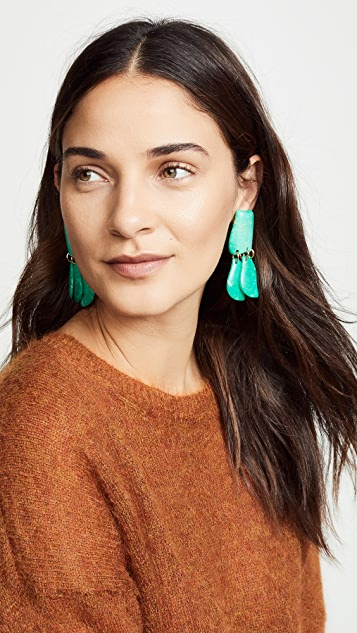Lele Sadoughi Iris Petal Drop Earrings
