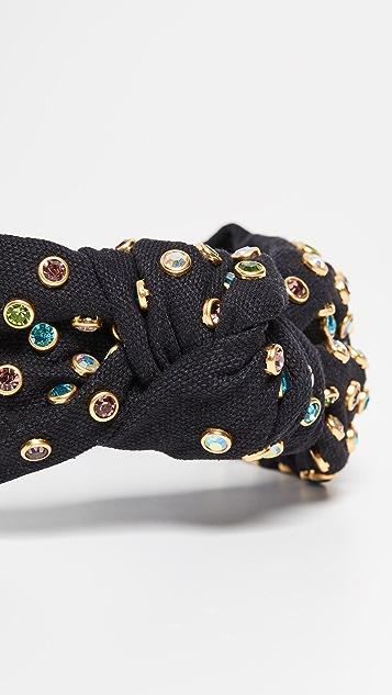 Lele Sadoughi Обруч с разноцветными кристаллами