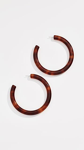 Lele Sadoughi Oversize Broadway Hoop Earrings