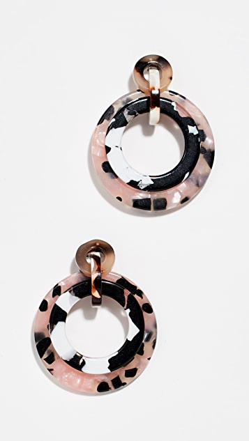 Lele Sadoughi Mini Banded Hoop Earrings
