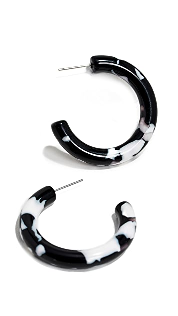 Lele Sadoughi Small Broadway Hoop Earrings