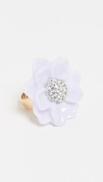 Lele Sadoughi Oversized Gardenia Ring
