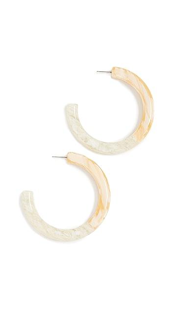Lele Sadoughi Medium Broadway Hoop Earrings