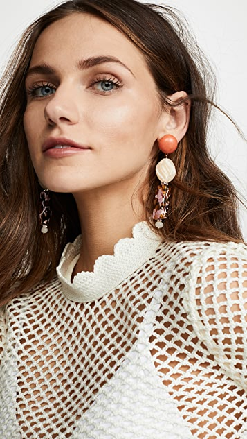 Lele Sadoughi Stacked Stone Earrings