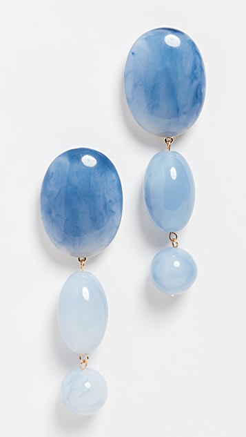 Lele Sadoughi Resin Bubble Drop Earrings