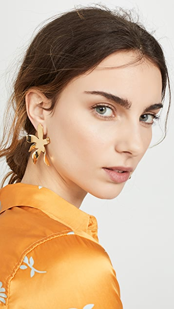 Lele Sadoughi Waterlily Button Earrings