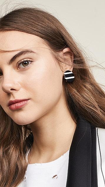 Lele Sadoughi Circle Stud Earrings