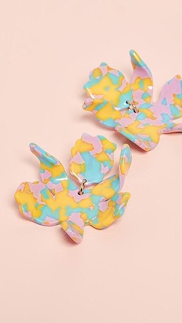 Lele Sadoughi Small Paperlily Earrings