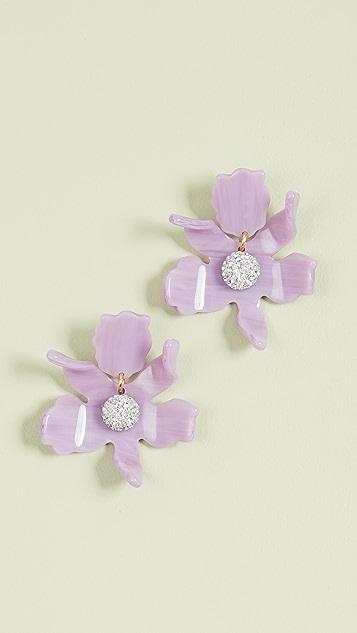 Lele Sadoughi Small Crystal Lily Earrings